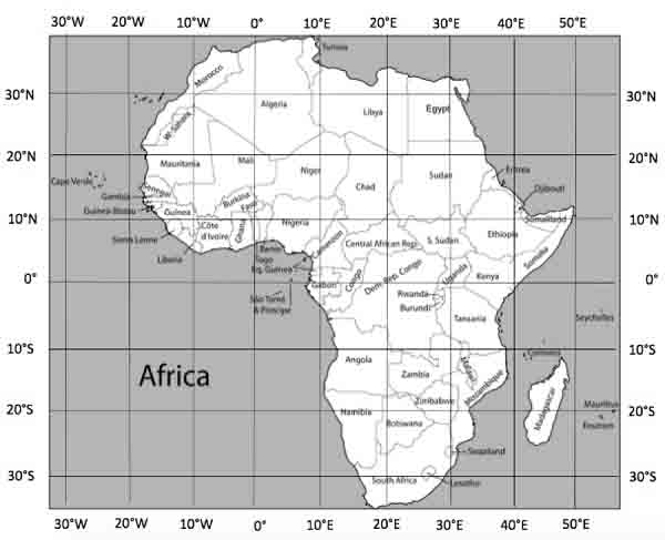 Position and Shape of Africa